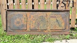 Old Vintage Ford V8 Tailgate Wall Decor Patina Man Cave Garage 40and039s Tail Gate