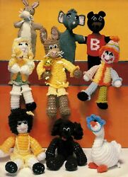 Crochet Toys Knitted Puppets Easter Bunny Raggedy Anne Dolls Animals Patterns
