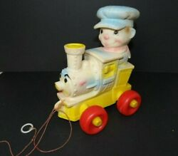 Vintage The Edward Mobley Co Squeaker Pull Toy Train Arrow Rubber And Plastics1962