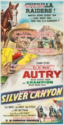 Silver Canyon 1951 Gene Autry Cowboy Champion Horse =poster 3 Sizes 4 / 6 / 7 Ft