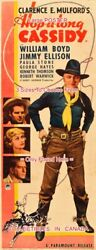 Hopalong Cassidy 1935 William Boyd Cowboy Hat =poster 3 Sizes 6ft / 9ft / 10.5ft