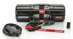 New Warn 101150 Axon 5500-s Winch With Synthetic Rope