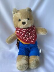 """Vintage Interior Preppy Bears Teddy 15"""" Bear Realistic Plush Toy Collectible"""