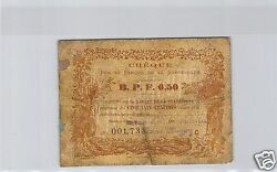 Guadeloupe Cheque Of 0,50 Francs 189- N°001733 Pick 20 A Very Rare