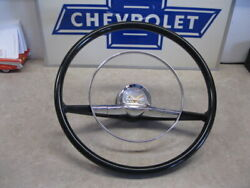 57 Chevy New Steering Wheel 15 With Horn Ring And Cap 1957 Chevrolet 15 Inch