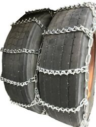 Snow Chains 11.00-15 , 11.00-15tr Dual Tire Chains Set Of 2