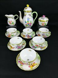 Herend Queen Victoria Vbo Tea Set For 6 Persons