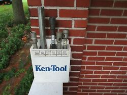 Vintage Ken Tool Store Display With Tire Tools Wrench Bar Leverage Truck Sign