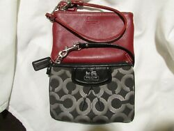 red coach wristlet leather with coach tag $24.99
