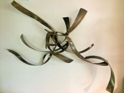 Convolutions Rare Large 1970and039s Brutalist Torch Cut William Bowie Wall Sculpture