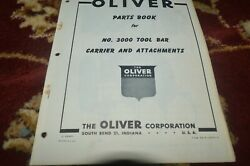 Oliver Tractor 3000 Tool Bar Parts Book Manual Gvoh