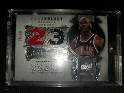 Michael Jordan 2007 Upper Deck Chronology Stitches In Time Dual Jersey 20/99