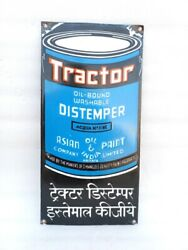 Vintage Old Rare Tractor Distemper By Asian Paint Ad Porcelain Enamel Sign Board