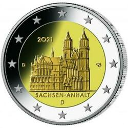 2021 Germany Andeuro 2 Euro Unc Coin Federal States Sachsen-anhalt Berlin A Mint
