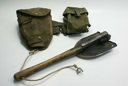 Vietnam War Us M1956 Entrenching Tool Shovel Pick W/ Carrier Belt And Ammo Case
