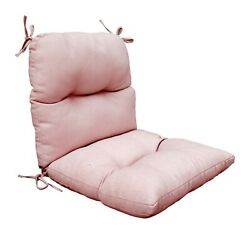 Bossima Patio Outdoor High Back Chair Tufted Cushions Comfort Cushion Coral Pink