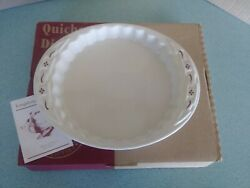 Longaberger Usa Pottery Quiche Dish Traditional Red New In Box