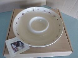 Longaberger Pottery Chip And Dip Serving Bowl Traditional Red New In Box