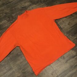 Vintage Made In USA Soffe#x27;s Choice Plain Solid Orange Long Sleeve Turtleneck XL