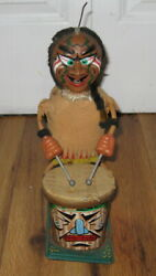 Parts Repair Antique Vintage Marx Nutty Mad Indian Drummer Battery Tin Toy