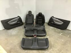 12-15 Chevy Camaro Ss Full Seat/door Panel Setleather Changeover Jet Black 01a