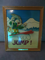 Extremely Rare Looney Tunes Bugs Bunny Skiing Wooden Vintage 3d Art Piece