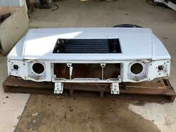 03-07 Hummer H2 Hood W/ Upper Grille Flares And Marker Lamps - White 50urepaint