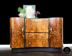 Art Deco Mid Century Retro Drinks / Cocktail Cabinet Sideboard Beautility