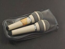 Pair Vintage Microphone Ev Pl68 Made In The Usa Working W Cases