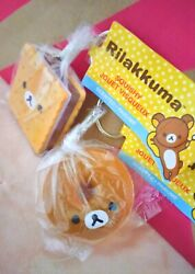 Daiso Rilakkuma Scented Sand039more And Donut Squishy Keychains + Daiso Brown Bag
