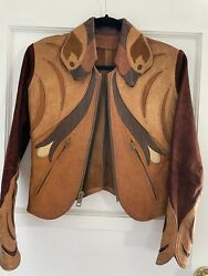 Vintage 1960s East West Musical Instruments Leather And Suede Parrot Jacket