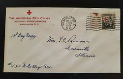 1931 Washington Dc Greenville Il American Red Cross Scott 702 First Day Cover