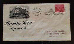 1930 Marion Oh To Lewiston Id Davenport Hotel Spokane Picture Advertising Cover