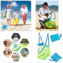 SupMLC Mesh Beach Bag Extra Large Beach Bags and Totes Tote Backpack Toys Towels $19.24