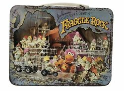 Vtg Jim Henson's Muppets Present Fraggle Rock Metal Lunch Box No Thermos 1984