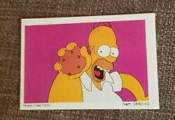 Vintage Trading Card Sticker Decal The Simpsons Homer 1990 Made In Italy Cookie