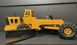 Vintage 1972 First Year Orange Mighty-tonka Double Blade Road Grader