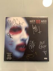 Marilyn Mansonsigned Band Dita Golden Age Of Grotesquevinyl Lp Rare