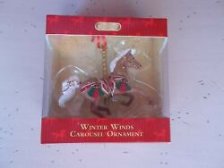 Breyer 2015 Carousel Ornament Winter Winds Hand Painted Resin 4quot; NOS