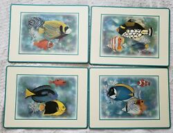 Pimpernel Set Of 4 Maria Ryan Tropical Fish Cork Backed Placemats Brand New