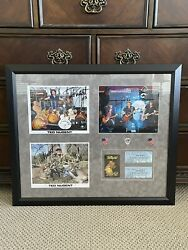 Custom Ted Nugent Autographed Framed Display Signed Photos Guitar Picks Tickets