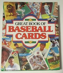 Great Book Of Baseball Cards 1887-1989 Hardcover Large Format 1989