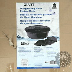 Open Box Little Giant Dfb36 Disappearing Fountain Basin For Pond In Black - 36
