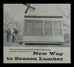 Lumber Kiln Solar And Windmill Powered How-to Build Plans