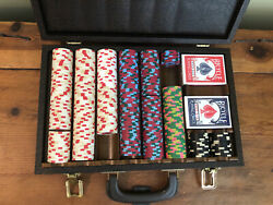 Paulson Classics Top Hat And Cane 25, 5, 1 Casino 348 Poker Chips Very Rare