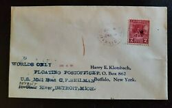 1931 Detroit Michigan Buffalo New York World's Only Floating Post Office Cover