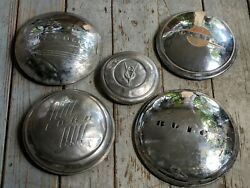 Vintage Late 30's And Up Ford V8 Pontiac Buick Chevrolet Insignia Moon Hub Caps