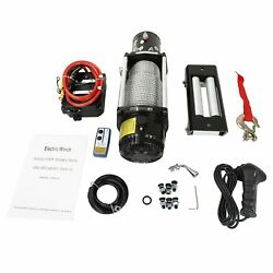 13000lbs Electric Winch 12v Steel Cable Off-road Utv Truck Towing Trailer