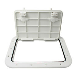 Marine Boat Kayak Canoe Deck Hatch And Lid Cover For Boats White 42.5 X 31.5 X