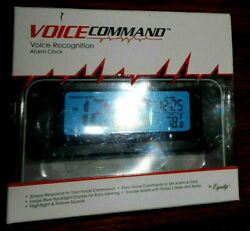 Equity Alarm Clock Voice Command LCD 60902 New in Box And Ready To Use